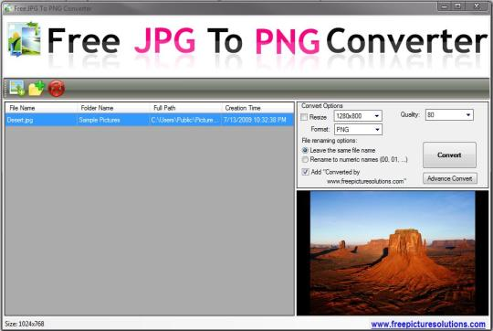 Free JPG to PNG Converter