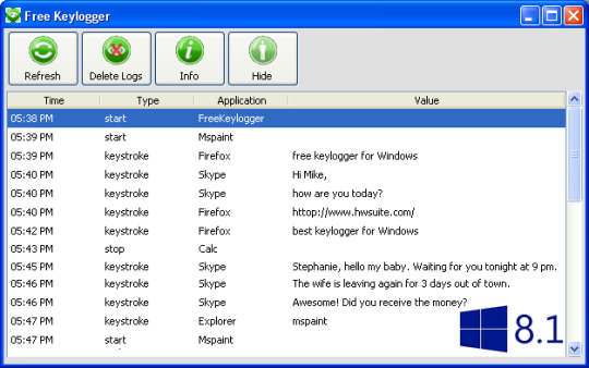Free KeyLogger for Windows