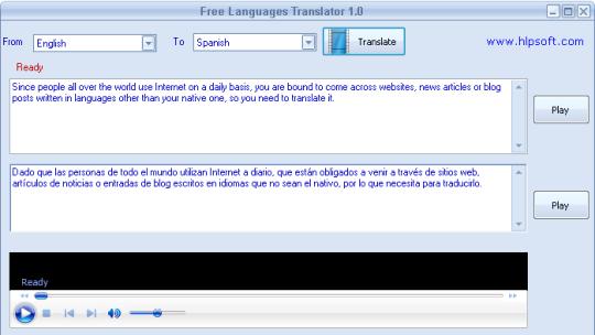Free Languages Translator