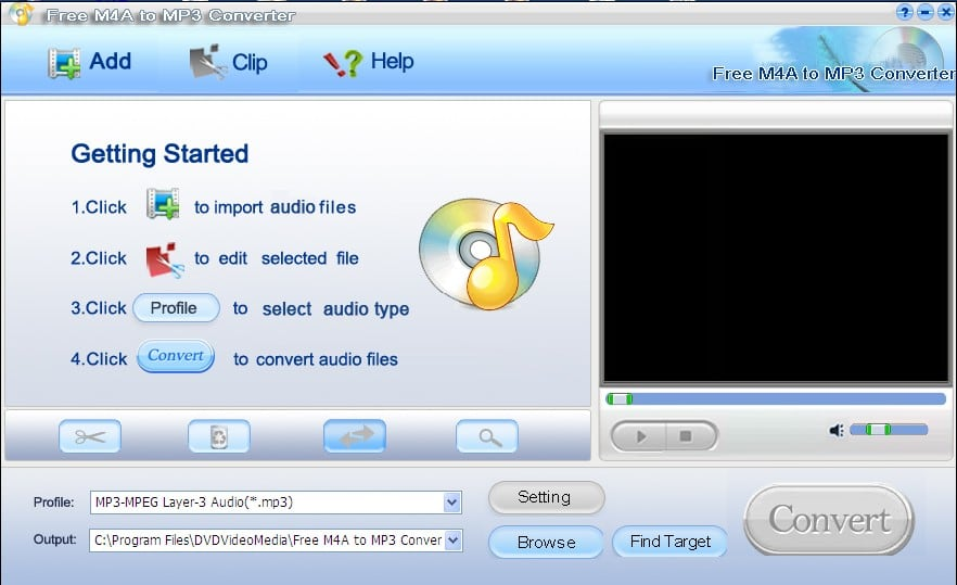 Free M4a to MP3 Converter