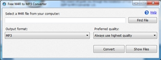 Free M4R to MP3 Converter