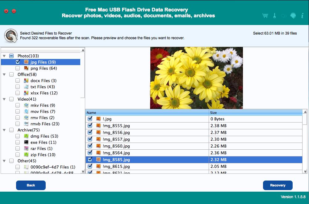 Free Mac USB Flash Drive Data Recovery