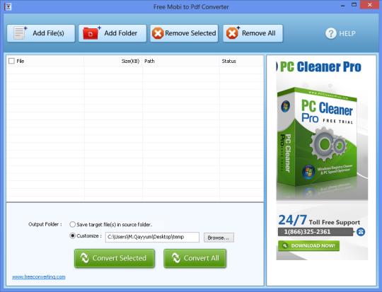 Free Mobi to PDF Converter