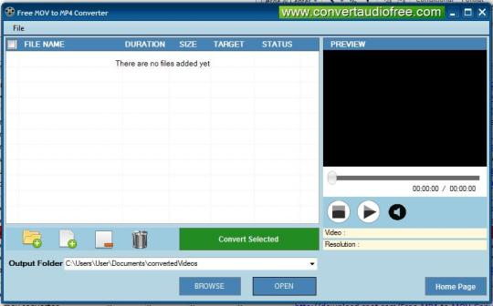 Free MOV to MP4 Converter
