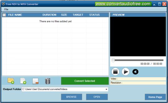 Free MOV to WMV Converter