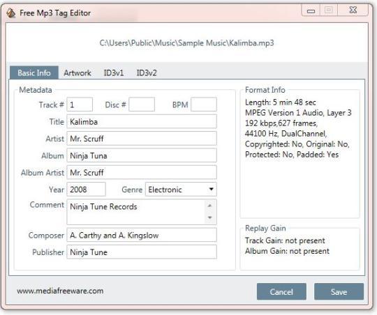 Free MP3 Tag Editor