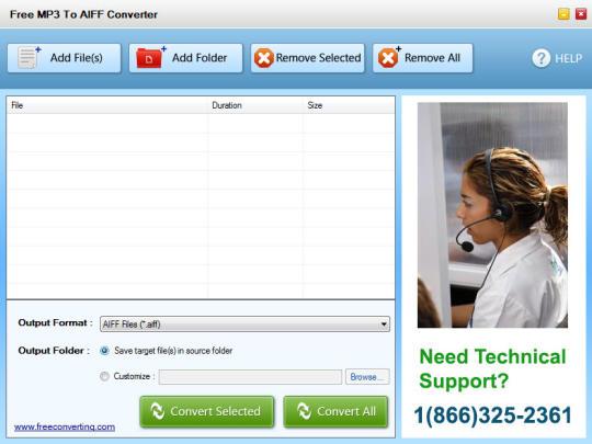 Free MP3 to AIFF Converter