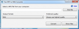 Free MP3 to M4A Converter