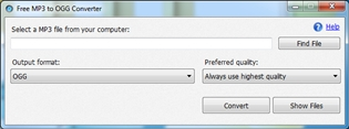 Free MP3 to OGG Converter