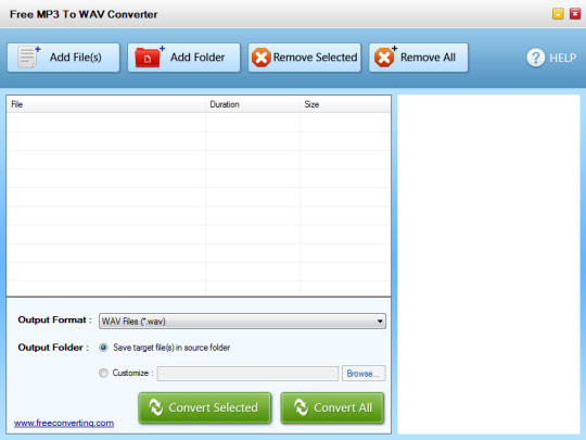 Free MP3 to WAV Converter