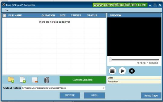 Free MP4 to AVI Converter