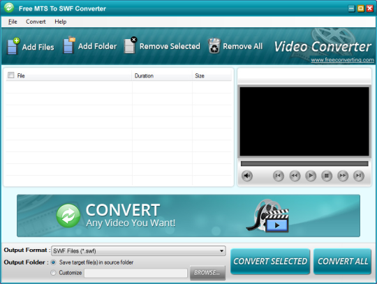 Free MTS to SWF Converter