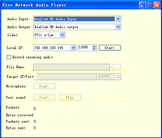 Free Network Audio Player