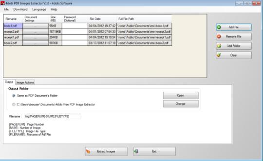 Free PDF Image Extractor