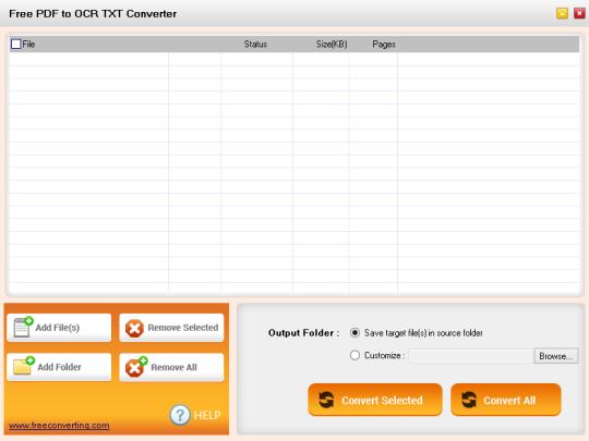 Free PDF to OCR TXT Converter