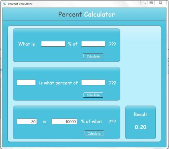 Free Percent Calculator