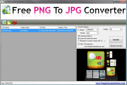 Free PNG to JPG Converter
