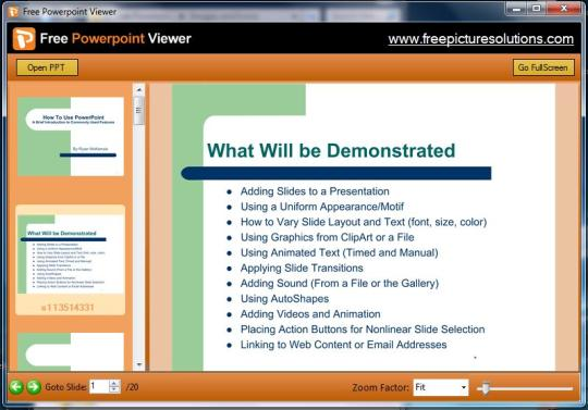 Free Powerpoint Viewer