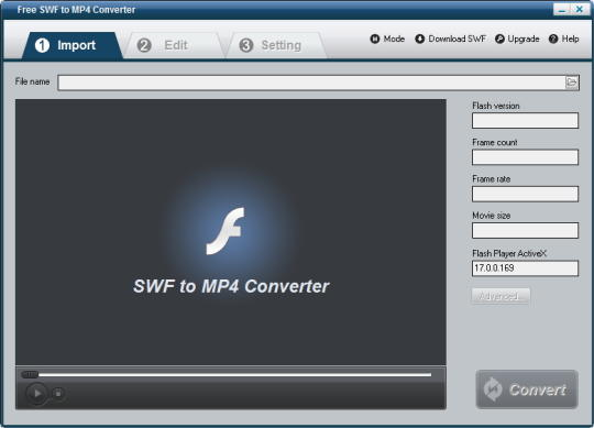 Free SWF to MP4 Converter