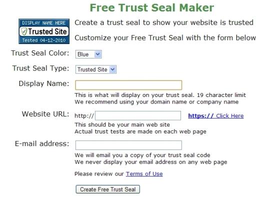 Free Trust Seal Maker
