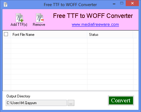 Free TTF to WOFF Converter