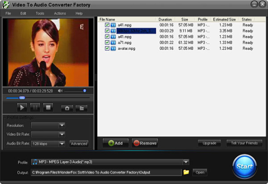 Free Video to Audio Converter Factory