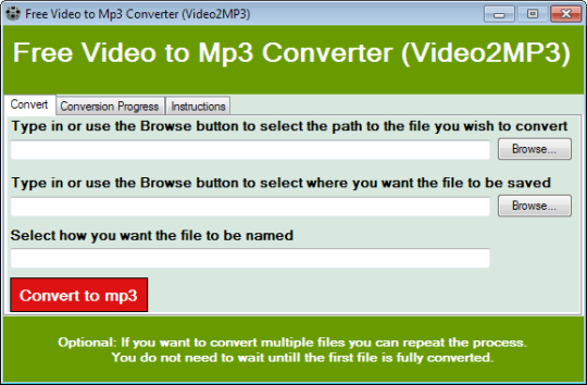 Free Video to Mp3 Converter (Video2MP3)