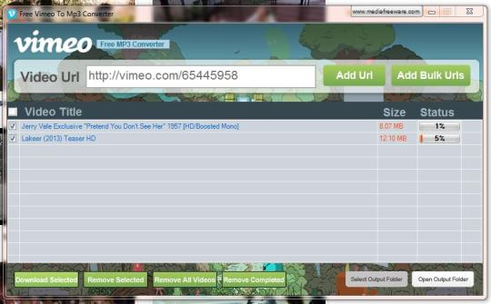 Free Vimeo to Mp3 Converter