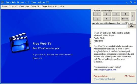 Free Web TV