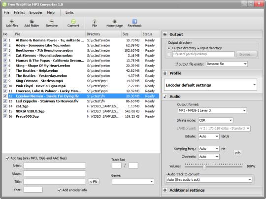 Free WebM to MP3 Converter