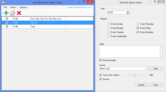 Free Windows Alarm Clock