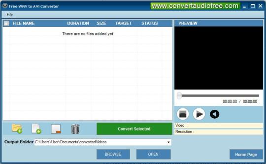 Free WMV to AVI Converter