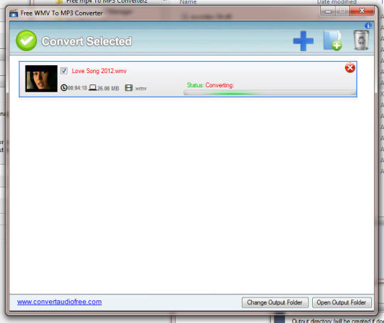 Free WMV to MP3 Converter