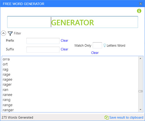 Free Word Generator