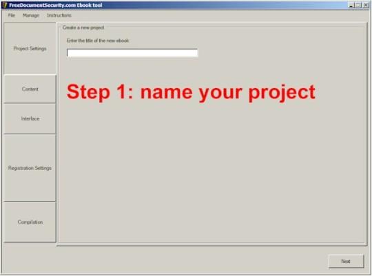 FreeDocumentSecurity Ebook Tool