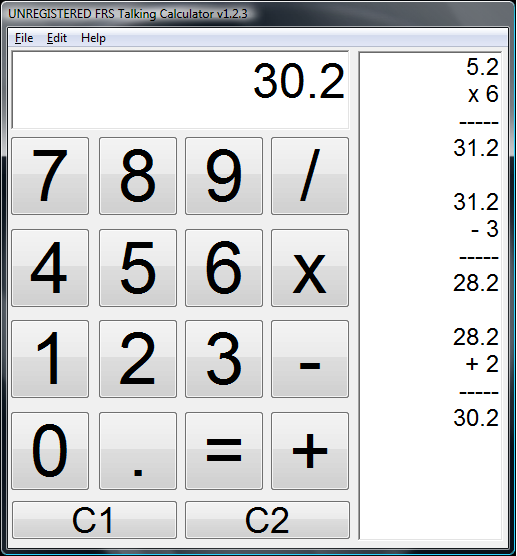 FRS Talking Calculator