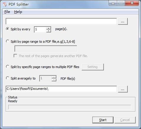 ftosoft PDF Splitter