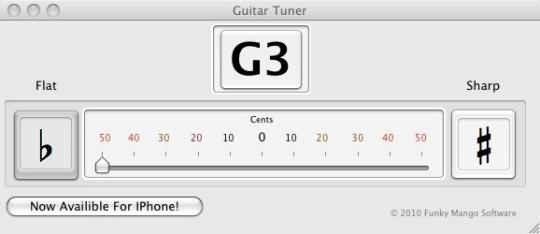 Funky Mango Guitar Tuner