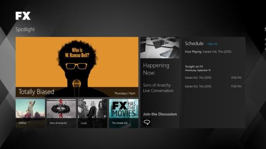 FX Networks for Windows 8