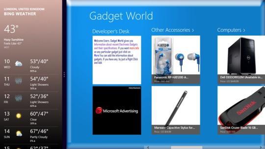 Gadget World for Windows 8