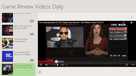 Game Review Videos Daily for Windows 8