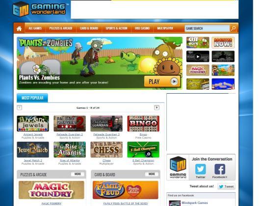 Gaming Wonderland Toolbar