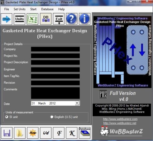 Gasketed Plate Heat Exchanger Design