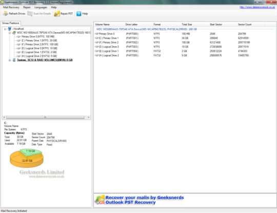 Geeksnerds Outlook PST Recovery