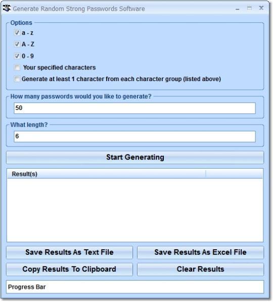 Generate Random Strong Passwords Software
