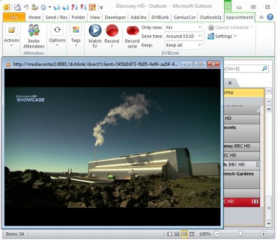 GeniusConnect DVBLink for Outlook