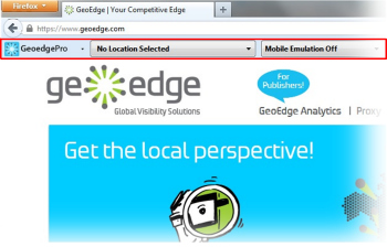 GeoEdge Proxy Toolbar