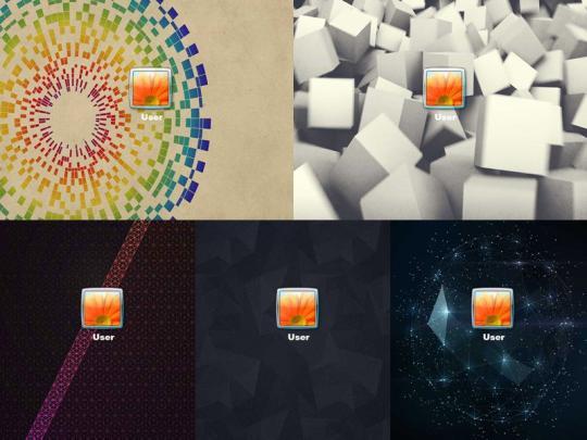 Geometry Logon Screen