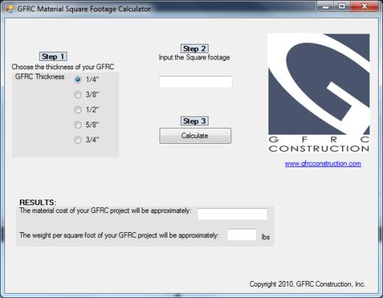 GFRC Calculator