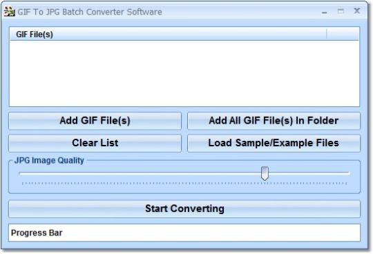 GIF To JPG Batch Converter Software